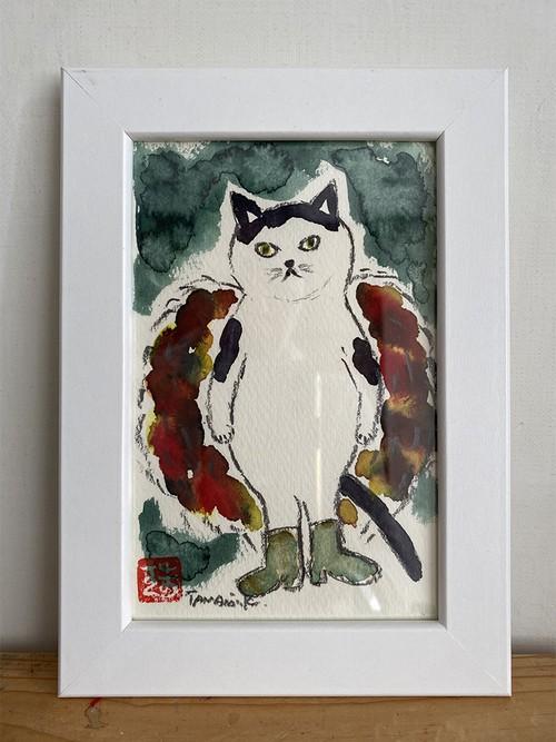 原画「グラムロック猫」ポストカードサイズ
