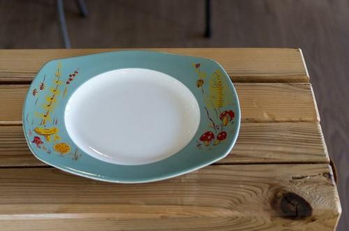 Figgjo / フィッギオ / キノコ柄 / 長皿 変形オーバルプレート