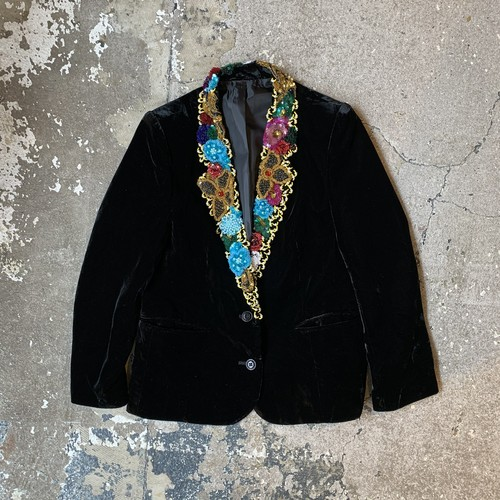 90's Decoration Velvet jacket
