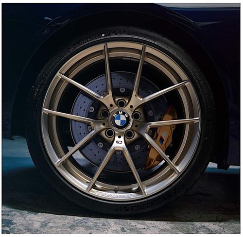 BMW純正 ///M Performance アロイホイール Y-スポーク 763M 20インチ フローズンゴールド Frozen Gold F80 F82 F83 M3 M4シリーズ 10JX20 ET40 リア側ホイール