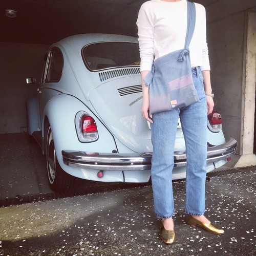 Mesh Bag《blue grey》