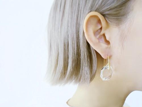 アンティーククリスタルピアス antique crystal earrings <PE1-0318>