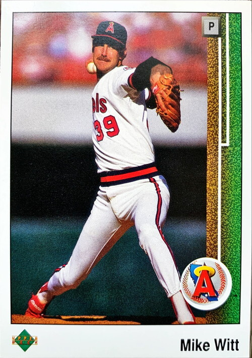 MLBカード 89UPPERDECK Mike Witt #555 ANGELS