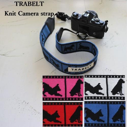 TRABELT≪着せ替え用≫着せ替え可能なKnitカメラストラップ【dog】