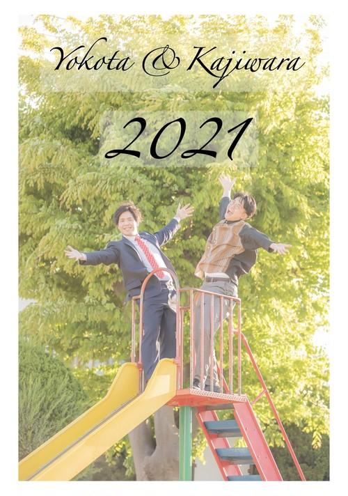 【新着】YOKOTA & KAJIWARA 魂のカレンダー2021(卓上B5サイズ) +KAJIWARA によるCD「梶原」2021ver.