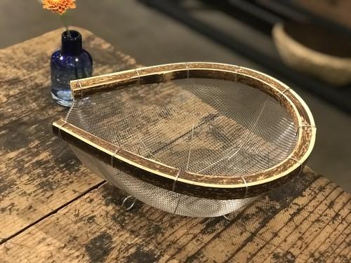 トラフ竹のステンレスざる 大 高知県工芸品 手仕事