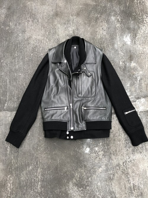 UNDERCOVER / 3way lether jacket