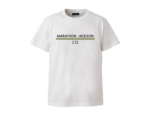 T-SHIRT M319102-WHITE / Tシャツ ホワイト WHITE  / MARATHON JACKSON マラソン ジャクソン