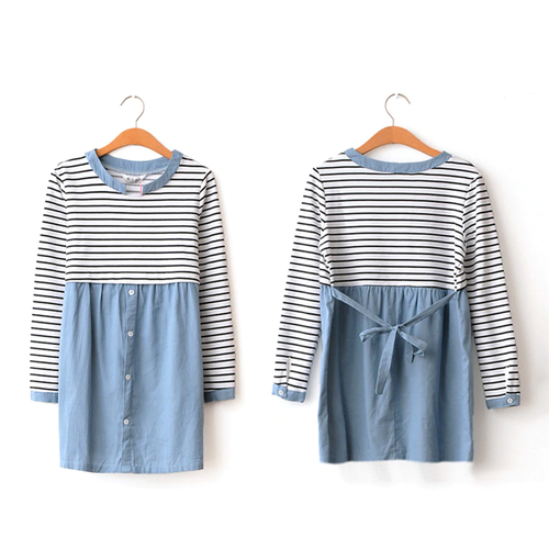 【注文商品】【マタニティー】Maternity Nursing Long Sleeve Cute One-Piece Style