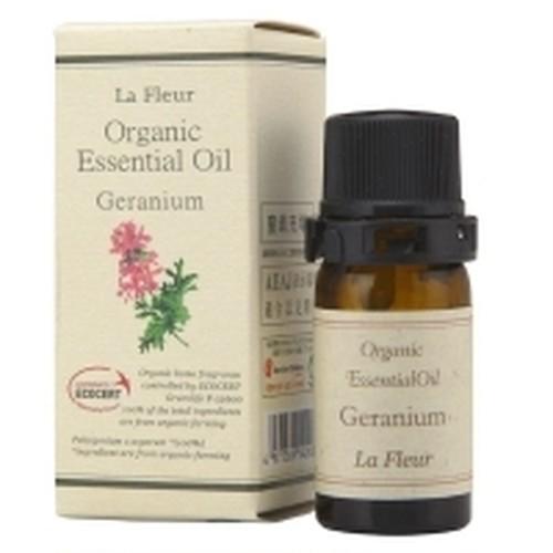 【20%OFF】バラに似て甘くフローラルな香り|ゼラニウム [ラ・フルール La Fleur オーガニックエッセンシャルオイル]