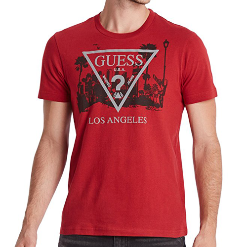 Guess Factory Los Angeles Crew Tee Red