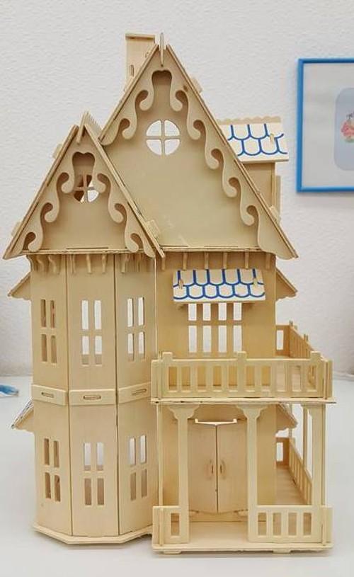 【送料無料】3D立体 木製パズル!木製ハウス②