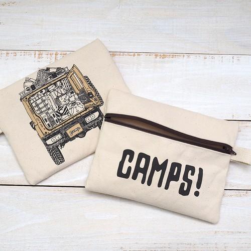 CAMPS ジッパード ポーチ【テトリス積載de車中泊】