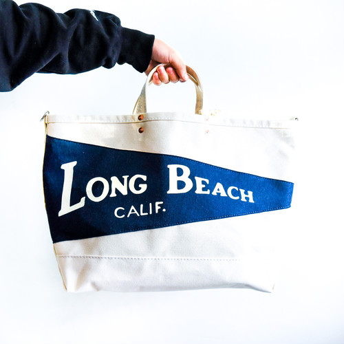 【Oxford Pennant】 P.T Works & Design Tote (Long Beach / NATURAL)