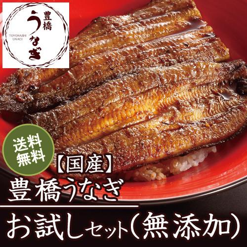 【お試し用】豊橋うなぎ蒲焼きセット(無添加)(約3人前)