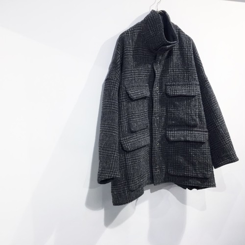 FIRMUM 【フィルマム】 WOOL & COTTON GLEN CHECK DOUBLE CLOTH blouson