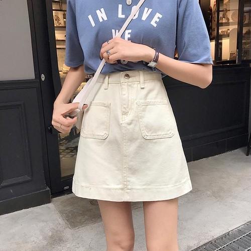 【お取り寄せ商品♡】フロントポケットデニムミニスカート day253