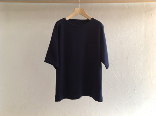 "crepuscule "" Pocket Knit T-shirt  Navy """