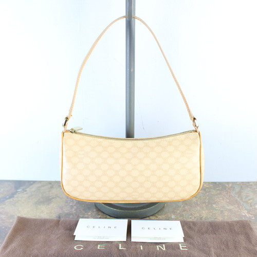 .CELINE MACADAM PATTERNED ACCESSORIES PORCH BANITY BAG MADE IN ITALY/オールドセリーヌマカダム柄アクセサリーポーチ(バニティバッグ) 2000000053134