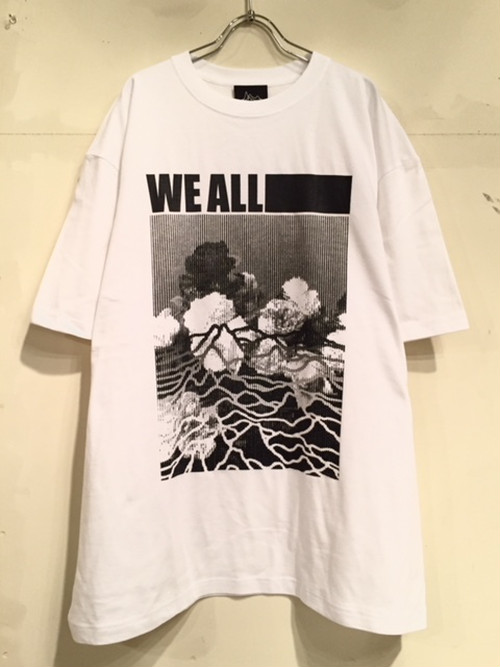 "【18016】S/S BIG Tee ""WE ALL …"" (WHITE)"