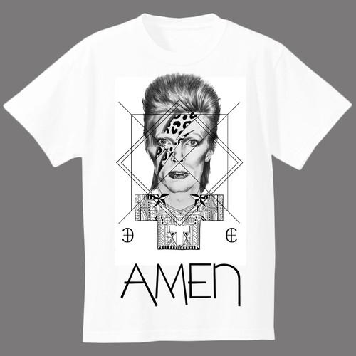 geometricAMEN(khristos.B)Tシャツ