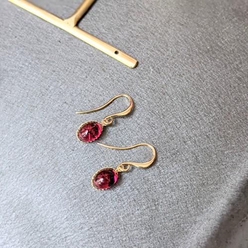 Vintage Swarvoski Ruby pierce