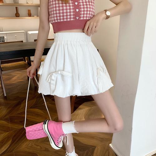 2色/リボン使いバルーンスカート ・17467