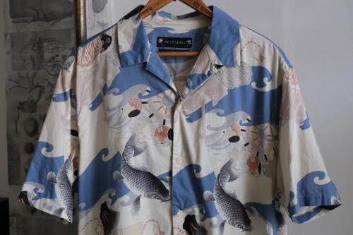 ALLSAINTS carp-print cotton Hawaiian Shirt