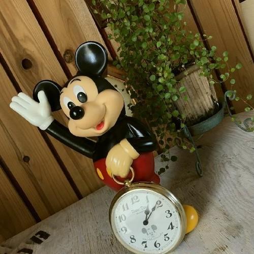 ≫激レア希少動作品*ヴィンテージ*Disneyディズニープロダクションズ*SEIKOSHA精工舎*古いミッキーマウスドールクロック*掛け時計置き時計