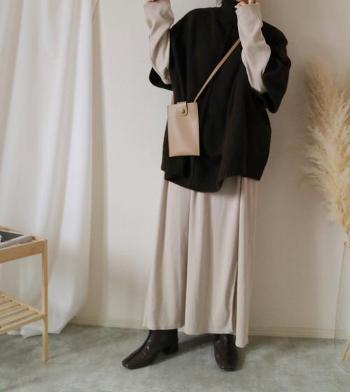 【brown】ニットポンチョ