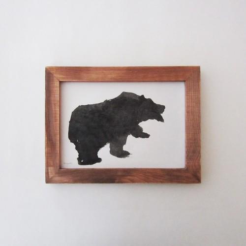 木彫りの熊のドローイングC / 原画(中サイズ)
