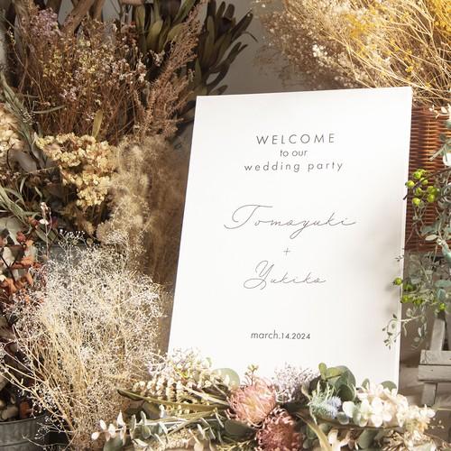 【lafeuille】コラボ お花をオーダーメイドできるキャンバスのウェルカムボード