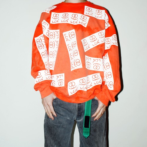 "『TARZANKICK!!!』""met the pass"" sweatshirt"