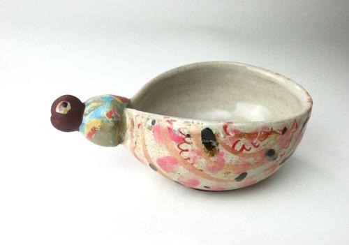 可愛いこども食器/ ボール/ スープカップ/ キッズ食器/ 陶器/白い食器/陶芸家が作る愉しい器 art gallery