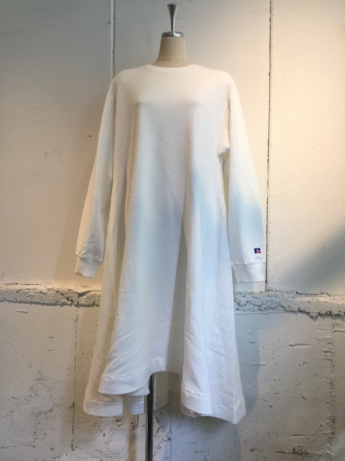 k3&co. RUSSELL×k3&co. SWEAT DRESS (WHITE)