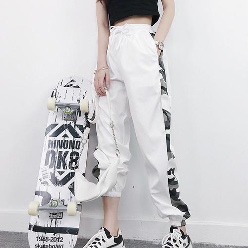 【ボトムス】ファッションストリートルーズカジュアルパンツ