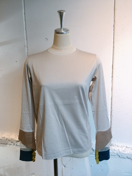 NAIFE Cuff long T-shirts (Grey)