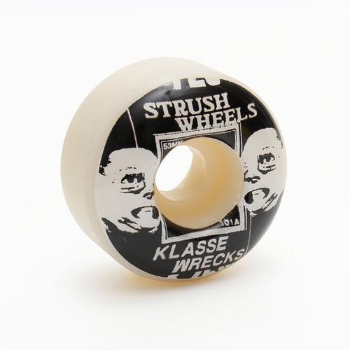 strush wheels / STRUSH x KLASSE WRECKS / 53mm / 101a  / (ART BY LACA LOZAN)