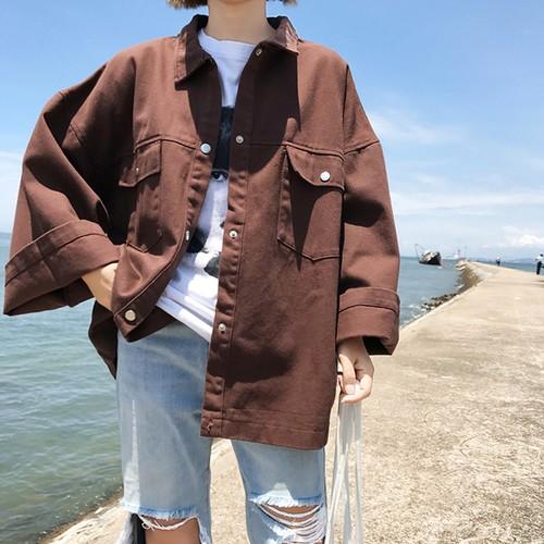 【送料無料】 秋アウター♡ ショート丈 カジュアル ジャケット ワイドスリーブ ビッグシルエット