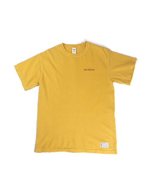 Shaded LOGO Garment Dye Tee / MUSTERD