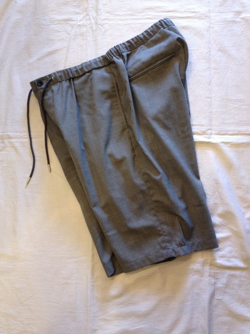 WASHABLE WOOL EASY TROUSER SHORTPANTS(good thing)