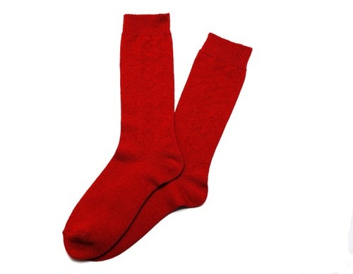 SURF SKATE CAMP #S.S.C Cable Socks (RED)