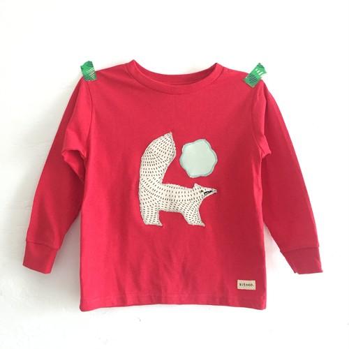 キツネ長Tシャツ 110-120センチ