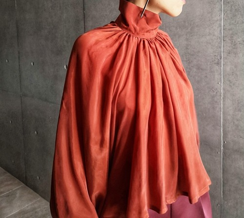 Bouffant sleeve tops/terracotta