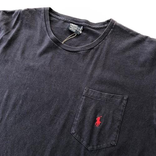 ポロラルフローレン Polo Ralph Lauren 胸ポケ付き Tシャツ Mサイズ 紺