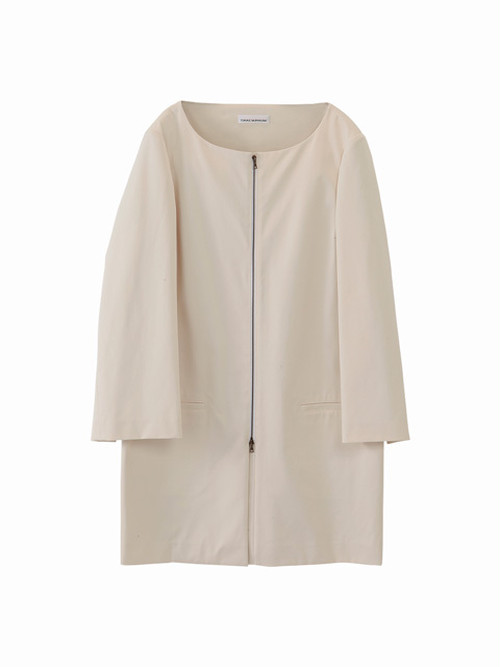 Sleeve slit coat / cream / S15CO01