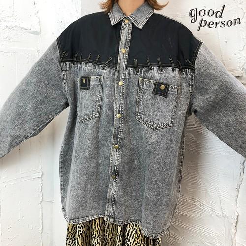 black denim design shirt