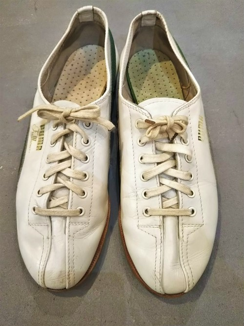 "60'S PUMA ""Fullhouse""  Bowling shoes /Made In West Germany [S-237]"