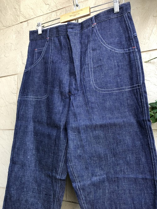 Deadstock Old British denim trousers 3