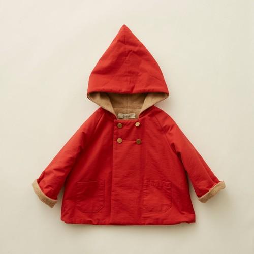 eLfinFolk(エルフィンフォルク)/ elf coat / red / 90,100cm